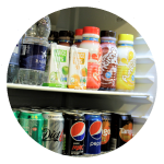 In house convenience store and shop selling food, drinks and snacks